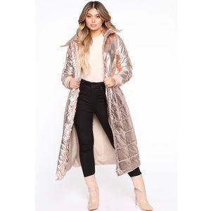 🆕 Fashion Nova Rose Gold Puffer